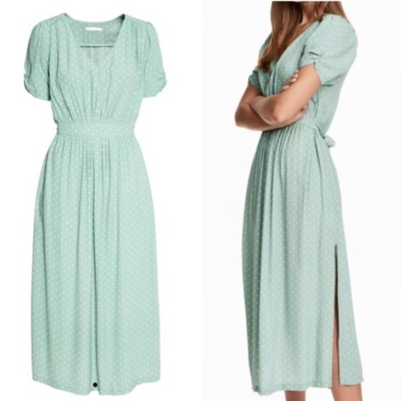H&M Dresses & Skirts - H&M Mint Dot Dress